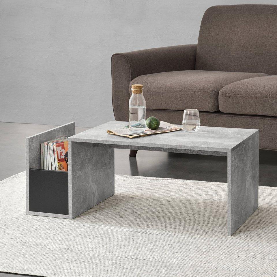 en.casa Couchtisch, »Bollnäs« Wohnzimmertisch Sofatisch Beistelltisch mit  Ablage 12x12x12cm weiß online kaufen   OTTO