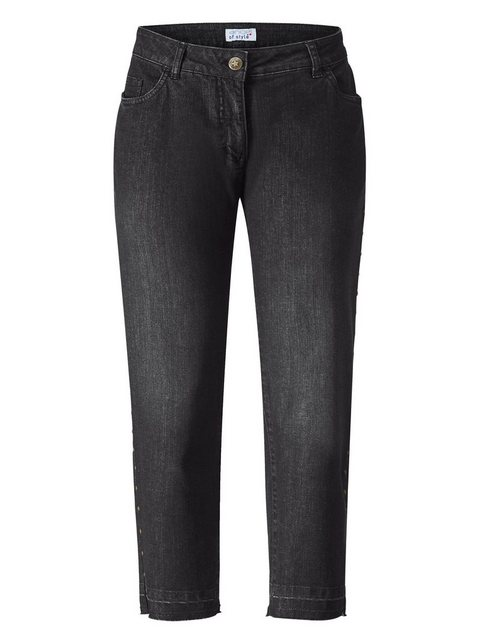 Hosen - Angel of Style by HAPPYsize Slim fit Jeans mit Nieten seitlich ›  - Onlineshop OTTO