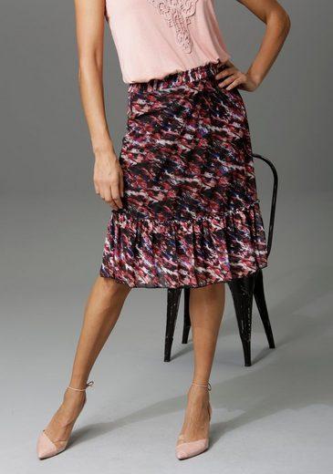 Aniston CASUAL Sommerrock mit Blumendruck oder graphischem Muster - du hast die Wahl