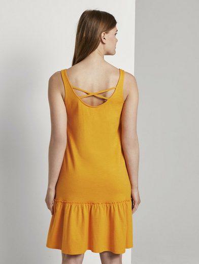 TOM TAILOR Denim Jerseykleid »Kleid mit Rücken-Detail und Rüschung«