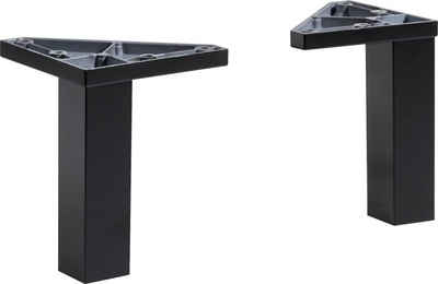 PELIPAL Möbelfuß »Belgrad«, (2-St), Höhe 10 cm, schwarz matt