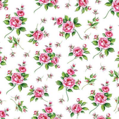 Ambiente Papierserviette »Romantic Roses«, (5 St), 33 cm x 33 cm