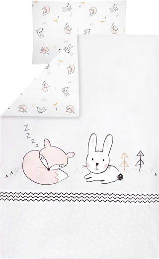 Kinderbettwäsche »Fuchs und Hase«, Zöllner, mit Tieren