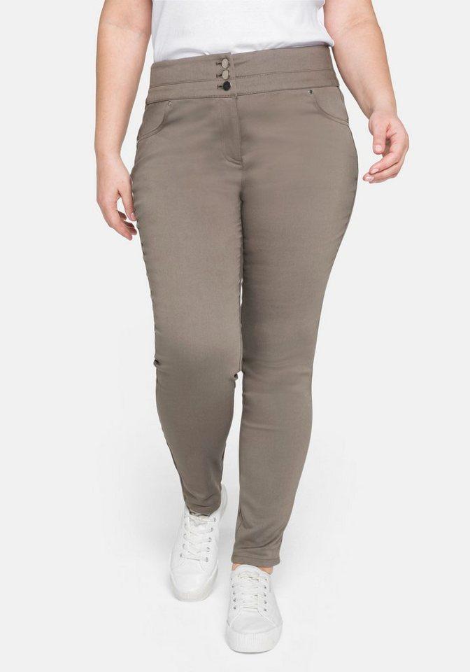 sheego -  Stretch-Hose »Die Skinny« mit breitem Formbund