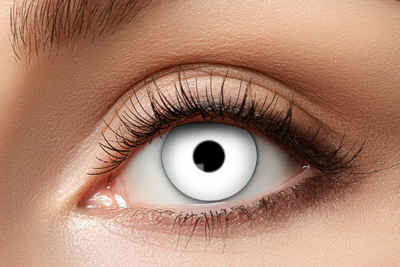 Eyecatcher Farblinsen »White Zombie Kontaktlinsen. 12 Monatslinsen. Halloween Effektlinsen«