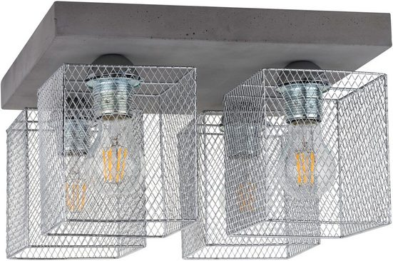 SPOT Light Deckenleuchte »GITTAN«, Echtes Beton, Naturprodukt - Nachhaltig, Made in EU, Handgemacht, Loft style