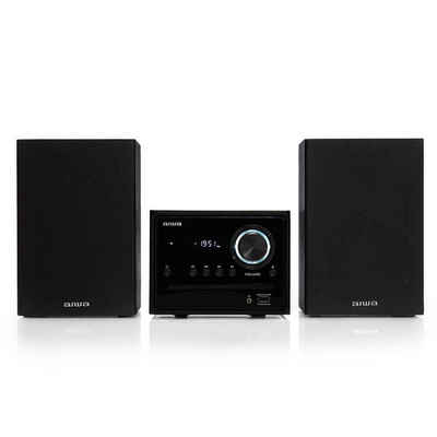Aiwa »MSBTU-300 schwarz Micro-HiFi-System 20W mit Bluetooth, CD, USB, FM-Radio, CD-Player« Stereoanlage (FM, 20 W, Bluetooth, FM, USB Lade-und Wiedergabeport)