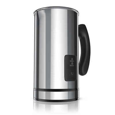 Arendo Milchaufschäumer, 500 W, automatischer Edelstahl Milchaufschäumer - MILKSKY Silver