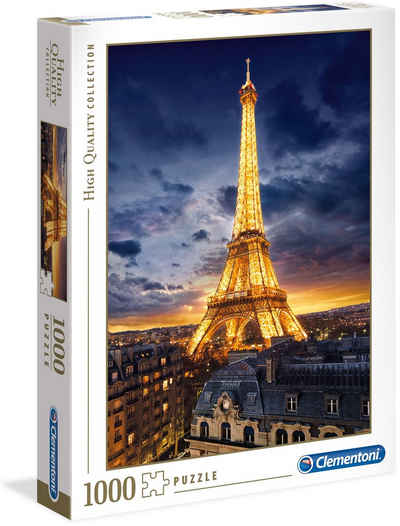 Clementoni® Puzzle »High Quality Collection - Eiffelturm«, 1000 Puzzleteile, Made in Europe, FSC® - schützt Wald - weltweit