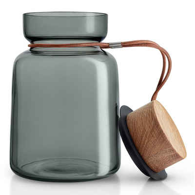 Eva Solo Vorratsglas »Silhouette Rauchglas/Holz/Silikon/Leder 1 L«, Glas, (1-tlg)