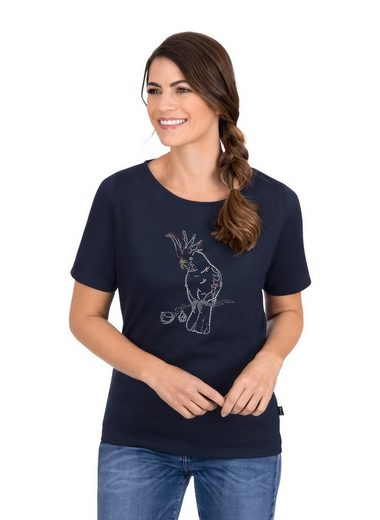 Trigema T-Shirt mit edlem Strass Motiv