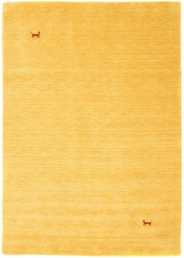 Wollteppich »GABBEH ASTERIA«, morgenland, rechteckig, Höhe 18 mm, reine Schurwolle, Uni Tiermotiv, Wohnzimmer