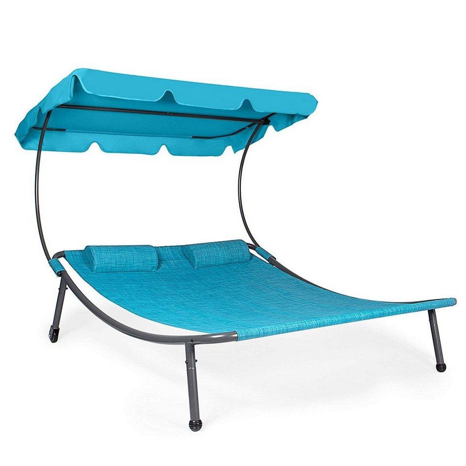 park alley doppelliege sonnenliege mit dach und kissen. Black Bedroom Furniture Sets. Home Design Ideas