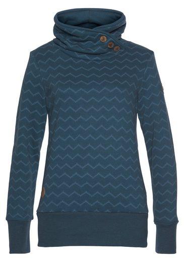 "Ragwear Sweater »ANGEL CHEVRON« mit ausdrucksstarkem ""Zig Zag"" Allover-Print"