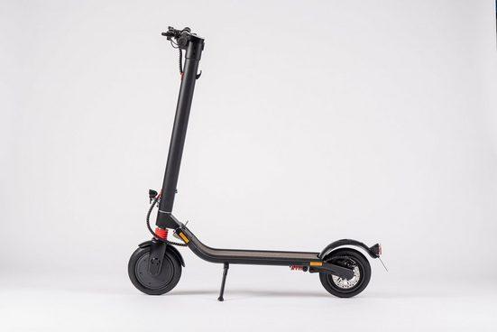 D-Parts EM2GO E-Scooter »EM2GO E-Scooter FW106ST mit Straßenzulassung, 5.2 Ah Akku«, 350 W, (mit Schutzblechen)