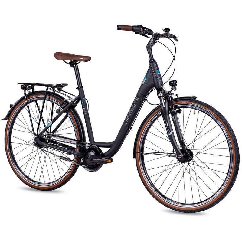 Airtracks Cityrad »Damen LS City Fahrrad 28 Zoll Cityrad CI.2820W«, 7 Gang Shimano NEXUS Schaltwerk, Nabenschaltung, Schwarz Matt - Rahmenhöhen 45cm und 50cm » Modeljahr 2021 «