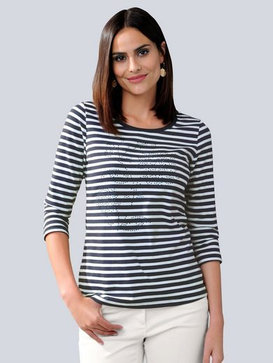 Alba Moda Shirt im maritim sportiven Ringel-Dessin