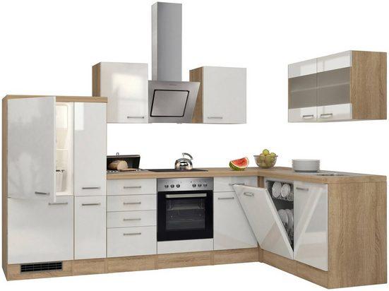 Flex-Well Küchenzeile »Florenz«, mit E-Geräte, Breite 310 x 170 cm