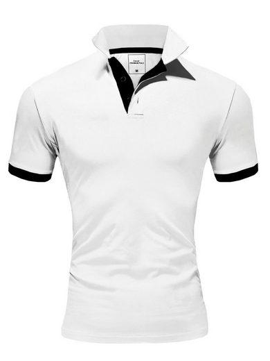 behype Poloshirt »BASE« mit kontrastfarbigen Details