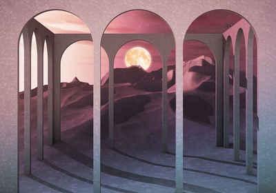 Komar Fototapete »Vliestapete Sands Of Time«, glatt, bedruckt, geblümt, floral, realistisch, 400 x 280 cm