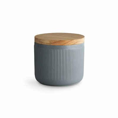 Springlane Vorratsdose »Stripes«, Keramik, Kautschukholz, Silikon, (1-tlg)