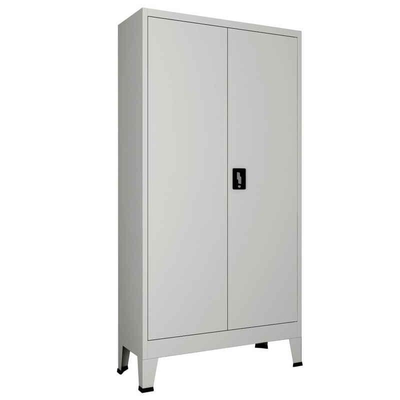 vidaXL Schiebetür »vidaXL Büroschrank mit 2 Türen Stahl 90x40x180 cm Grau«