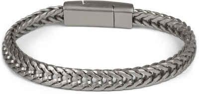 styleBREAKER Armkette »Armband Zopfkette mit Magnetverschluss«, Armband Zopfkette mit Magnetverschluss