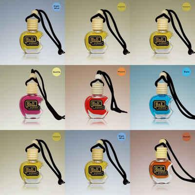 B&E Duftbeutel »3x Lufterfrischer MIX Zufall Düfte Fahrzeugduft Parfüm 12ML Duftöl Autoduft Oto Kokusu Frische Süße Zimt Vanille Melone Autoduft«, 3-tlg.