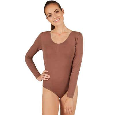tectake Body »Frauen Langarm-Body mit Rundhals-Ausschnitt« (1-tlg)