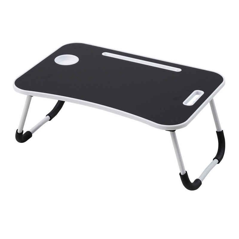Albatros Laptoptisch »Albatros Laptoptisch FLIP, Schwarz, mit Schublade, Tisch klappbar, Lapdesk, Tablett, fürs Bett oder Couch«
