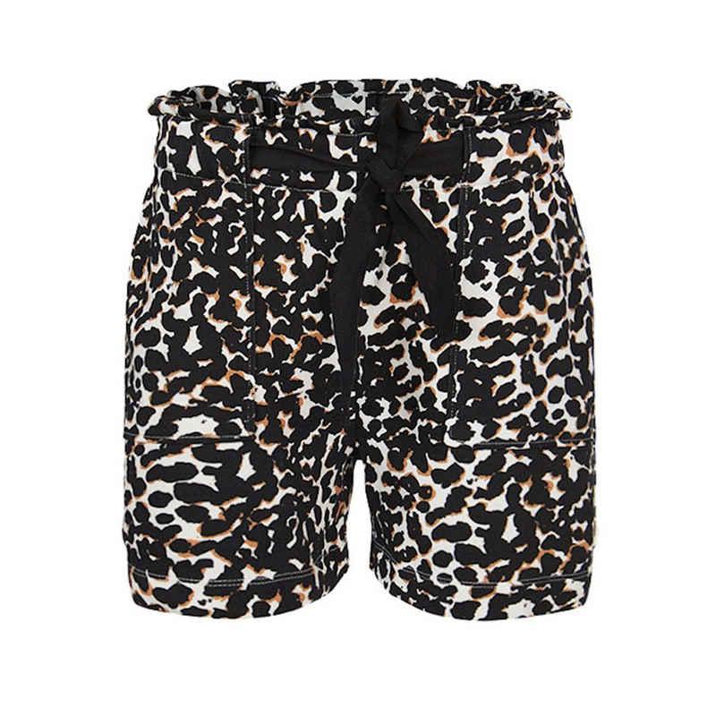 summum woman Shorts »Summum Sweat Shorts, Kurze Hose mit Print, schwarz, Hose, Shorts, Sommerhose«