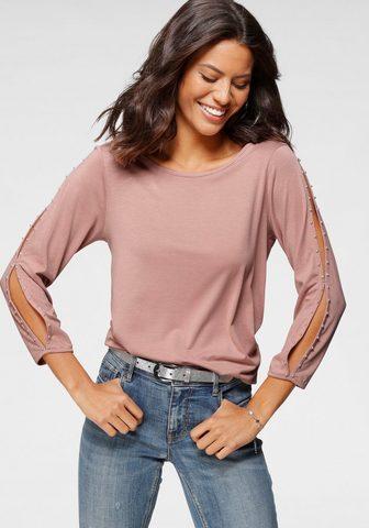 Laura Scott Marškinėliai ilgomis rankovėmis su Zie...
