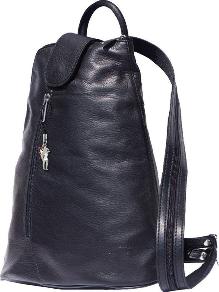 Florence Damen Rucksack Handtasche Tasche Auswahl Echtleder 27x12x31 OTF601X