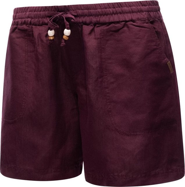 Hosen - Ragwear Shorts »Keito Organic« leichte kurze Leinenhose mit Tunnelzugband › rot  - Onlineshop OTTO