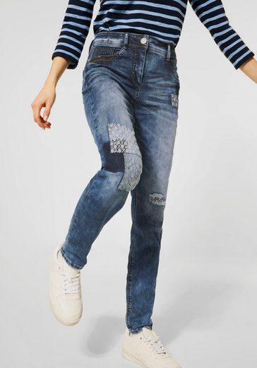 Cecil High-waist-Jeans »Toronto« mit vielen Ziernähten
