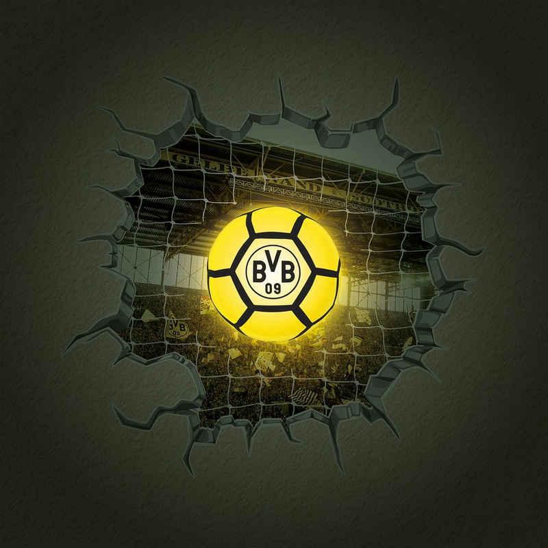 BVB LED-Lichterkette, Fußballnetz, LED-Lampe in Ballform & 3D-Wandtattoo