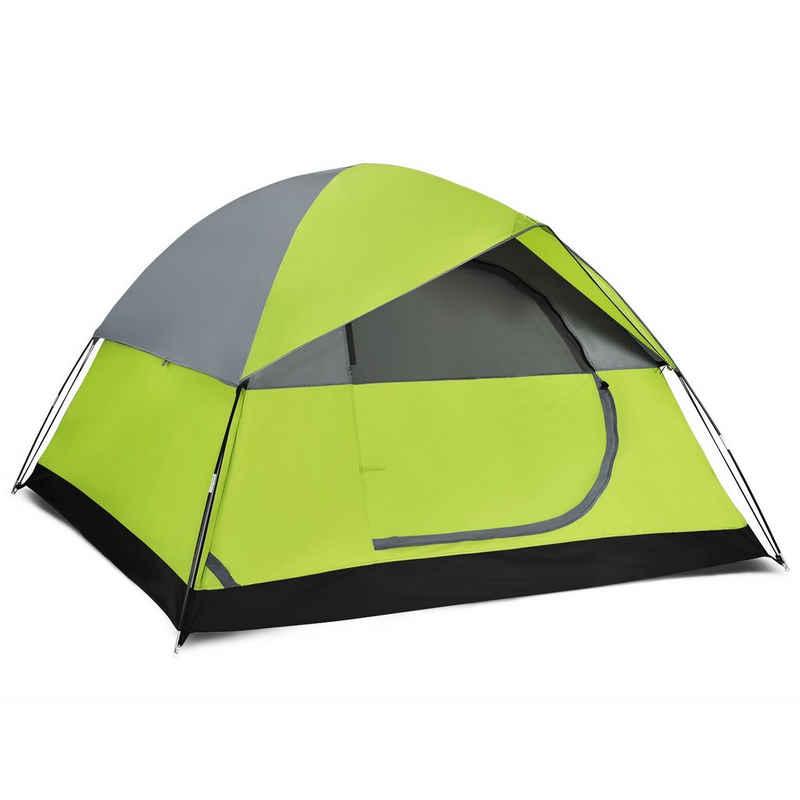 COSTWAY Kuppelzelt »Campingzelt, Wurfzelt«, Personen: 2, Doppelschicht, mit wasserabweisendem Regenverdeck