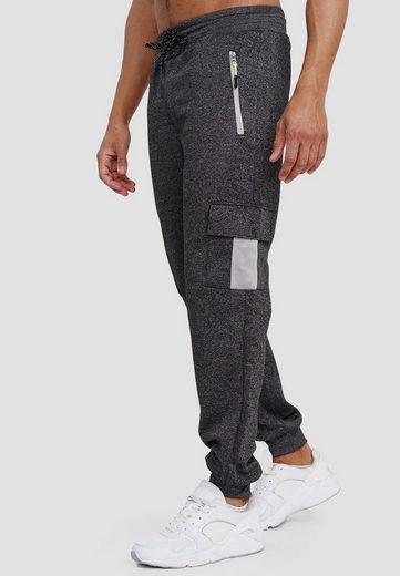 Max Men Jogginghose »3595« Herren Cargo Jogger Sport Trainingshose Sport Hose Zip Taschen