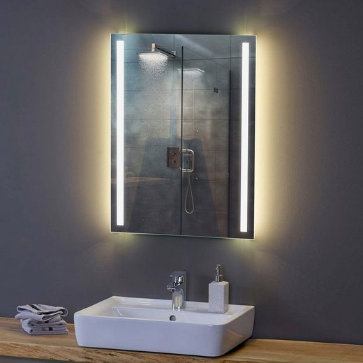 ZIERATH Komplett-Set: Badspiegel »Aledo Lichtspiegel«, Mit LED-Beleuchtung