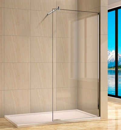 welltime Walk-in-Dusche »Rom«, Einscheibensicherheitsglas, Breite 80 cm, Duschabtrennung