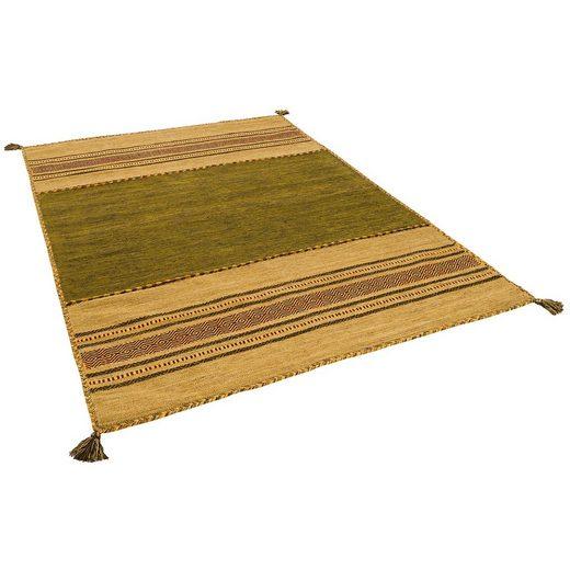 Wollteppich »Natur Teppich Kelim Navarro«, Pergamon, Rechteckig, Höhe 8 mm