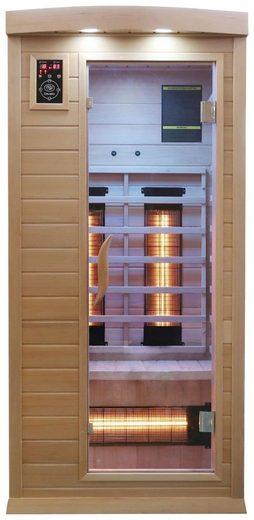 Dewello Infrarotkabine »Pierson Dual-Therm«, BxTxH: 90 x 90 x 190 cm, 50 mm, für 1 Person