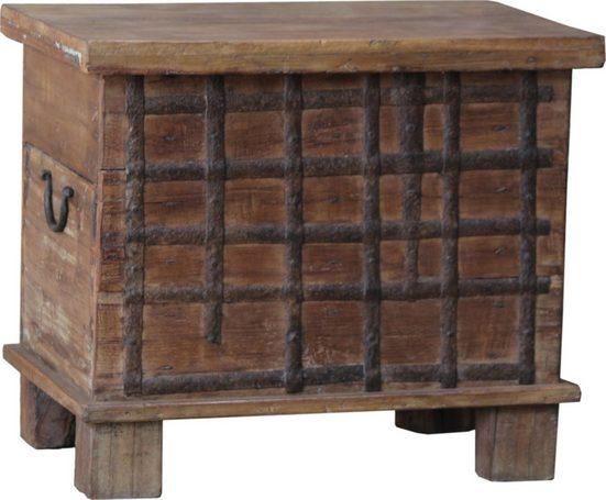 Guru-Shop Truhenbank »Holzbox aus Vollholz, Holztruhe, Couchtisch,..«