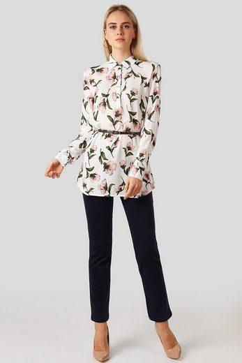 Finn Flare Freizeitbluse mit femininem Blütenprint
