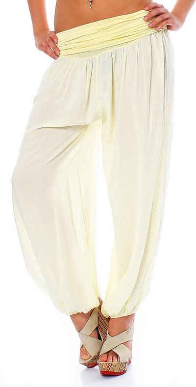 malito more than fashion Haremshose »malito Damen Pumphose in Uni Farben, Haremshose« (1-tlg) mit elastischem Bund