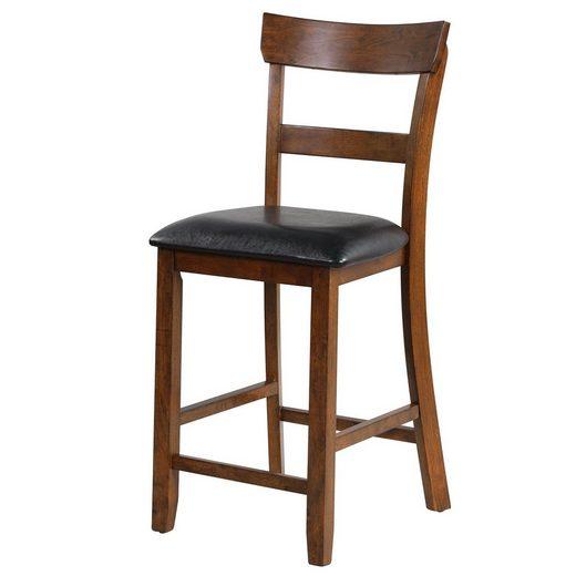COSTWAY Barhocker »Barstuhl, Esszimmerstuhl«, mit Rückenlehne & 65cm Sitzhöhe, für Bar, Bistro, Esszimmer, Küche, 2er-Set