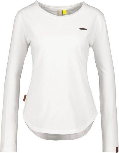 Alife & Kickin T-Shirt »LeaAK A« modisches Longsleeve mit Bogensaum& Rundhalsausschnitt