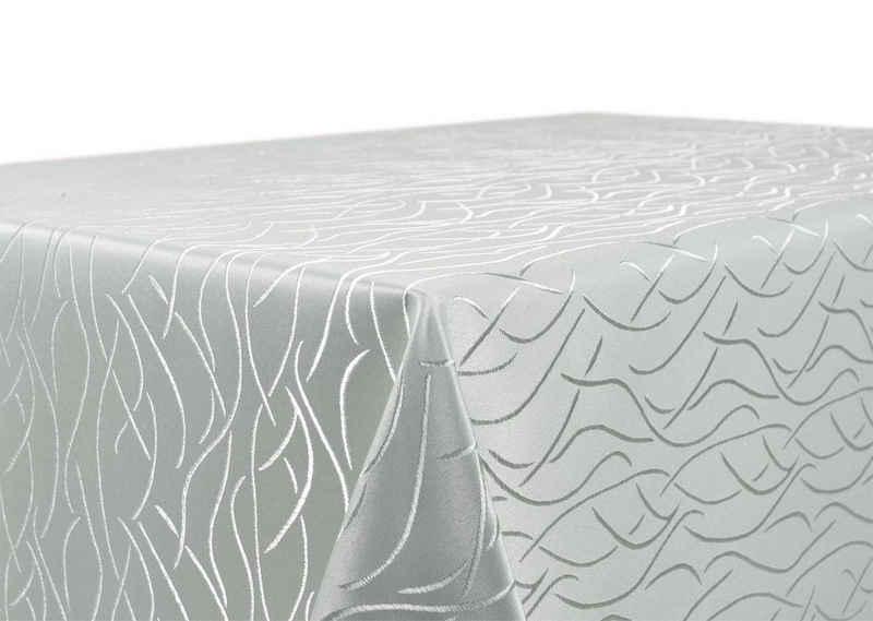 Beautex Tischdecke »Beautex Tischdecke Damast Streifen - Bügelfreies Tischtuch - Fleckabweisende, pflegeleichte Tischwäsche - Tafeltuch« (1-tlg)