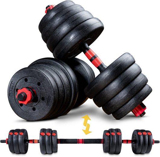 Sportstech Hantel »AH150, 30kg«, 30,5 kg, (Spar-Set, 15-tlg., mit Langhantelstange)