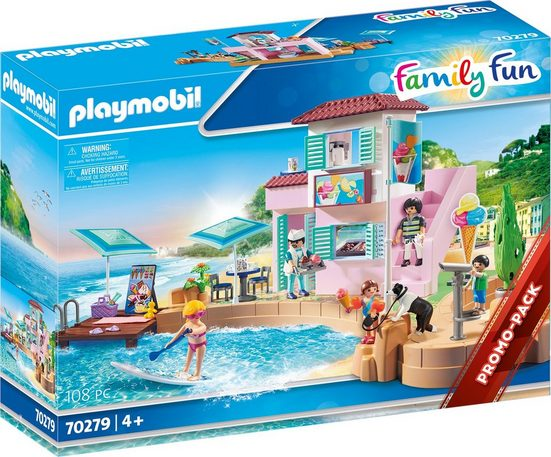 Playmobil® Konstruktions-Spielset »Eisdiele am Hafen (70279), Family Fun«, ; Made in Germany